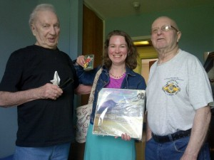 From left to right, Hank MacDonald, Mary Beth Carty and Everette Baker
