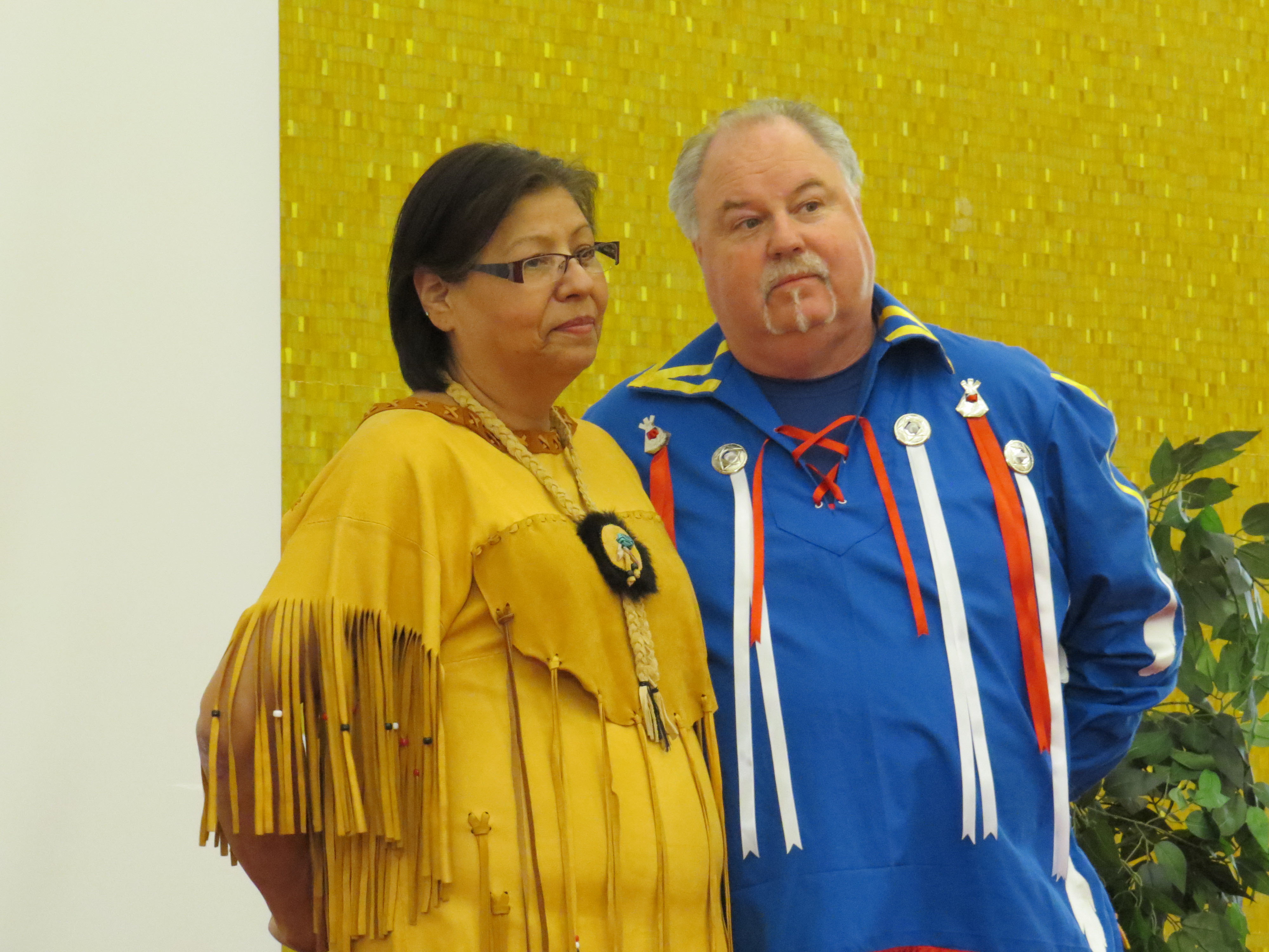 Mary Taylor as Lucy, Consort to Capt. Timothy Hierlihy; Mike Taylor as Mi'kmaw Elder