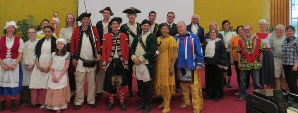 First dress rehearsal of 1784: (Un)Settling Antigonish and you meet our inter-Generational and multi-Cultural cast and creative team