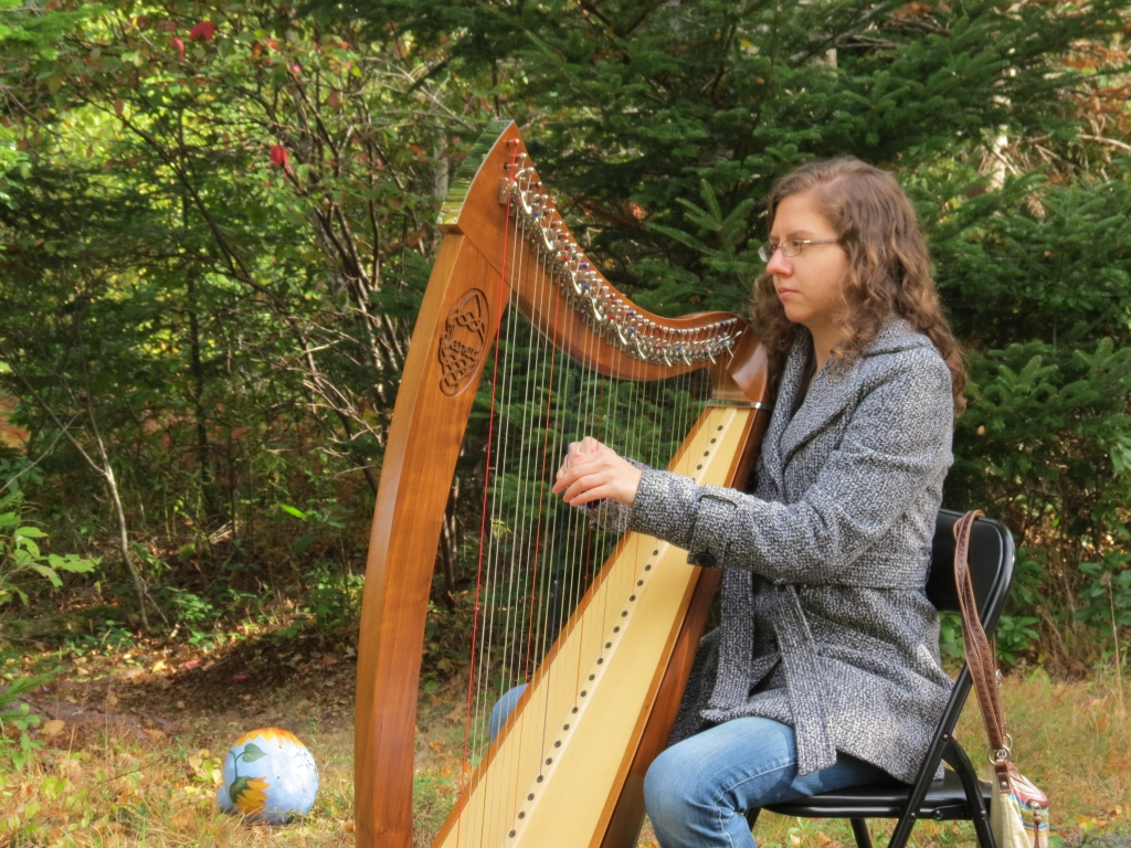 On-site rehearsal, Oct. 2014: Thea Huard plays Londonderry Air
